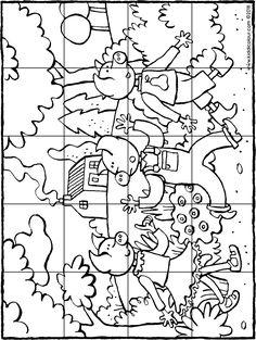 Preschool Literacy, Preschool Worksheets, Literacy Centers, Kindergarten, Puzzle Piece Crafts, Puzzle Pieces, Fairy Tale Theme, Fairy Tales, Three Little Pigs