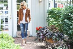 Two Peas in a Blog: Suede Jacket for Fall + 3 Random Thoughts
