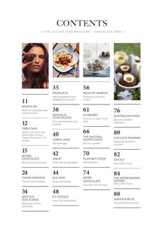 this table of contents is perfect! visually interesting vertical layout with photos