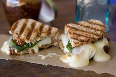 Brie, Fig, and Asian Pear Panini~What's Gaby Cooking Panini Sandwiches, Wrap Sandwiches, Asian Pear Recipes, Panini Recipes, Cheese Recipes, Whats Gaby Cooking, Vegetarian Recipes, Cooking Recipes, Healthy Recipes