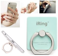 I get a good a laugh from people but this is really handy! Amazon.com: iRing Masstige Ring Grip & Stand holder for any Smart devices (iPhone, Android phone, iPad, iPod, and Tablet) (Mint): Cell Phones & Accessories