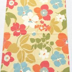 Tropical Flowers Cotton Fabric Sample by TextilesandThings on Etsy, $16.00