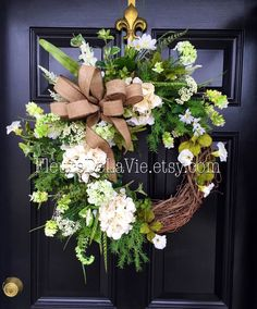 A personal favorite from my Etsy shop https://www.etsy.com/listing/264716811/spring-wreaths-for-front-door-spring