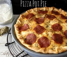 Pizza Pot Pie~My two Favorite meals combined into one!! Pizza and Pot Pie!!
