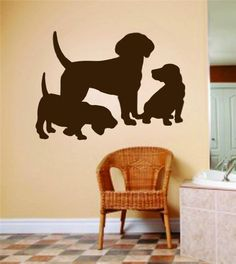Mom Dad Dog With Baby Puppies Picture Art - Animals - Peel & Stick Sticker - Vinyl Wall Decal - 24 Colors Available 8x12 by Design With Vinyl Decals, http://www.amazon.com/dp/B00BRZ7NJS/ref=cm_sw_r_pi_dp_DJrZrb0B4A9MF