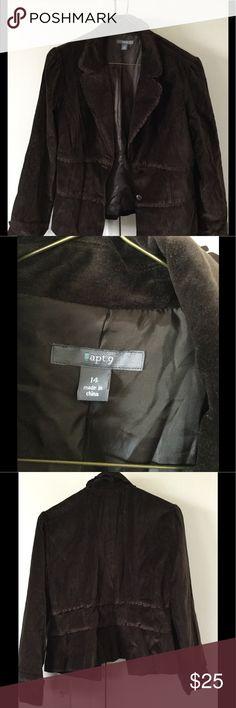 Brown women jacket size 14 Women's waist fit Brown Jacket size 14. Jackets & Coats