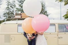 Miles of Tulle, Wooden Bow Ties and Big Balloons for a Romantic Blush Pink Wedding