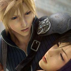 Cloud y Tifa de Final Fantasy: Advent Children...