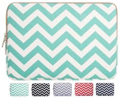 $15 Amazon.com: Mosiso - Chevron Blue Canvas Fabric 14 Inch Laptop / Notebook Computer / MacBook Air / MacBook Pro / Acer / Asus / Fujitsu / Lenovo / HP / Samsung / Toshiba / Sony Sleeve Case Bag Cover, Chevron Blue: Computers & Accessories