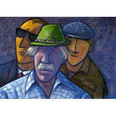Werner Berg Kegler am Wiesenmarkt 1977 Hats, Woodblock Print, Art Pieces, Watercolour, Painting Art, Drawing S, Pictures, Hat