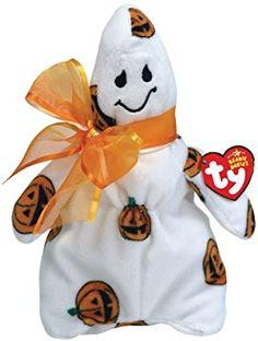TY Beanie Babies Ghoulish ghost w/ pumpkin pattern Beanie Baby Bears, Ty Beanie Boos, Webkinz Stuffed Animals, Plush Animals, Rare Beanie Babies, Ty Babies, Hello Kitty Characters, Beanie Buddies, Vintage Teddy Bears