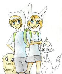 Fionna and Finn by Natsunohuyana on deviantART