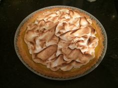 Lemon-meringue pie - a joy to make, and even more to eat. Never mind the calories overkill..