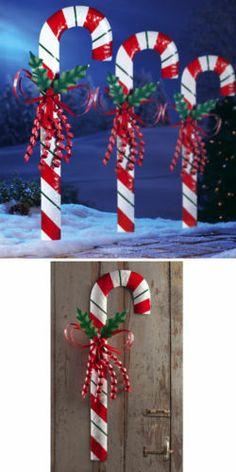 Outdoor Christmas Decorations Candy Canes Cane Kruka 60Cm  Svart  Outdoor  Pinterest