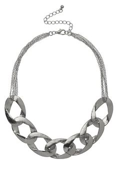 Rhinestone Chain Link Necklace available at #Maurices