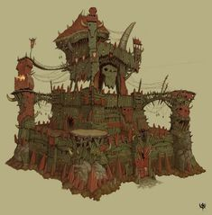 orcs and goblins official games workshop citadel castle from Warhammer Online: Age of Reckoning Concept Art