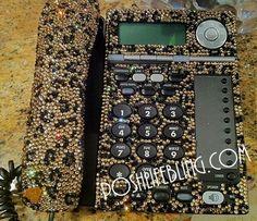 Leopard Print Desk Phone Poshlifebling