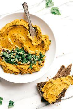 Karotte, Walnuss & Red Lentil Hummus | Eine schmackhafte, gewürzt und Protein-verpackte Snack!