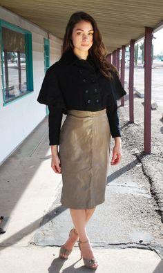 Vintage Dior Jacket 60s Black Wool Caplet Velvet Collar Coat by designer Christian Dior S from  WaistedVintage1 on etsy.com  $225.00  VCAT