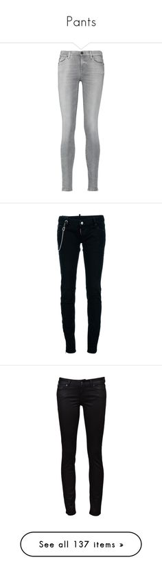 """""""Pants"""" by wintersoldier1945 ❤ liked on Polyvore featuring jeans, pants, bottoms, grey, light gray, mid rise jeans, grey skinny jeans, gray skinny jeans, light gray jeans and 7 for all mankind skinny jeans"""