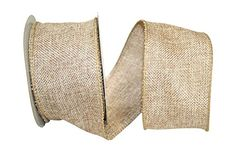 Reliant Ribbon Burlap Poly We Fabric Ribbons, 2.5' x 10 yd., Tan ** Check this awesome image  : Wrapping Ideas