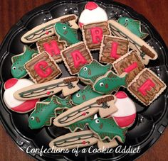 """""""Gone Fishing"""" cookies for a 13 year old boy"""