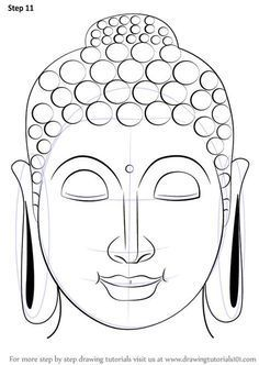 Pencil Drawing Techniques Learn How to Draw Buddha Face (Buddhism) Step by Step : Drawing Tutorials Art Buddha, Buddha Drawing, Buddha Face, Cartoon Drawings, Cool Drawings, Pencil Drawings, Realistic Drawings, Drawing Skills, Drawing Techniques