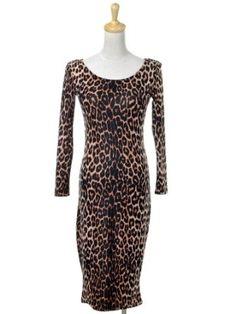 Read More About Anna-Kaci S/M Fit Brown Leopard Cheetah Print L/S Sexy Body Hugging Cougar Dress …, http://style-smilez.tumblr.com/post/43331822824/anna-kaci-s-m-fit-brown-leopard-cheetah-print-l-s-sexy , Pinned by http://pinterest.com/pinterestfella
