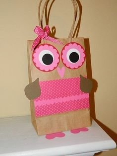 Valentine owl treat bag......with tag that says...OWL you need is love...OWL always love you...or..guess HOO loves you :)