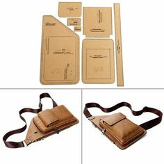 DIY Handmade Leather Men 's Fashion Chest Bag Stitch Pattern Hard Kraft Paper Stencil Template DIY Craft Materials * _ {categoryName} – AliExpress móvil Leather Bag Pattern, Sewing Leather, Leather Diy Crafts, Leather Craft, Handmade Leather, Costume Bags, Couture Cuir, Diy Coin Purse, Men Clutch Bag