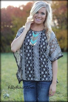 Lady Love Embroidered Top - Filly Flair