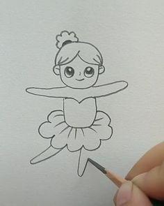 Cute Easy Drawings, Art Drawings For Kids, Art Drawings Sketches Simple, Pencil Art Drawings, Disney Drawings, Drawing For Kids, Painting & Drawing, Cat Drawing, Doodle Art