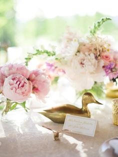 Gold and Pink Centerpiece