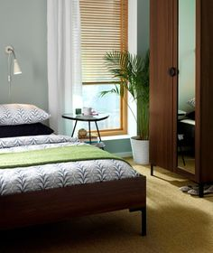 Ikea bedroom, decorating small spaces