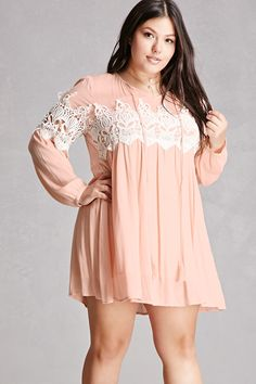 Plus Size Tassels N Lace Dress
