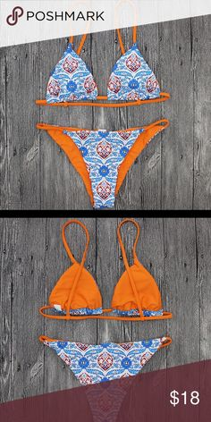 3d81c4c614 Beautiful Paisley String Bikini Set🧡 Fits true to size and excellent  quality❤ Miami