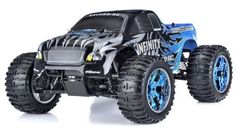 1/10 2.4Ghz Exceed RC Infinitve Nitro Gas Powered RTR Off Road Monster 4WD Truck (Sava Blue) STARTER KIT REQUIRED AND SOLD SEPARATELY