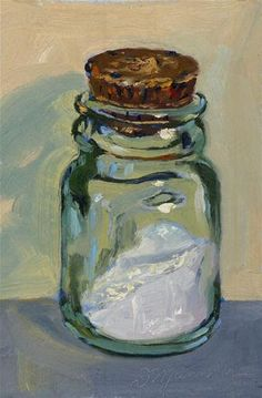 """Salt Jar"" - Original Fine Art for Sale - © Diane Mannion"