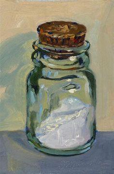 """Salt Jar"" - Original Fine Art for Sale - © Diane Mannion Painting Still Life, Still Life Art, Jar Art, Art Techniques, Beautiful Paintings, Painting Inspiration, Painting & Drawing, Watercolor Art, Art Projects"
