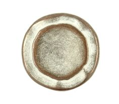 Rustic Circles Metal Shank Buttons in Copper White Patina - 23mm - 7/8 inch