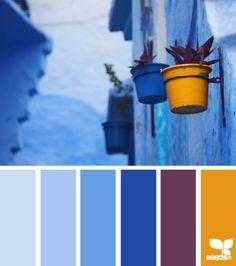 Blurb ebook: Design Seeds by Seed Design Consultancy LLC Blue Colour Palette, Colour Schemes, Color Patterns, Paleta Pantone, Palette Design, Colours That Go Together, Greek Blue, Color Balance, Deco Design