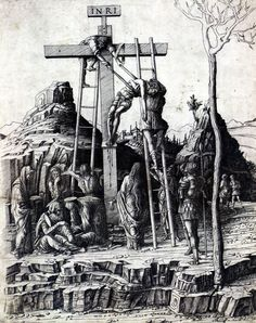 """artist-mantegna: """" The Descent from the Cross by Andrea Mantegna Size: 35.9x44.8 cm"""""""