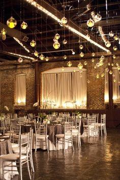Industrial wedding decor