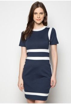 3a2a45e914672d Crista Dress from Daria in navy 1 Cotton Spandex