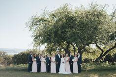 Navy pink bridal party at @vintagevillastx Photo by @ninephotography