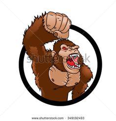 Angry gorilla cartoon