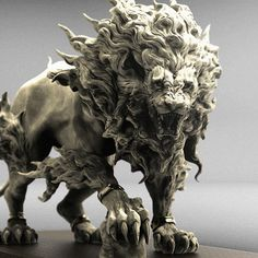 HI everyone,I love ZBrush! Modeled with zbrush,rendered with keyshot. enjoy my zbrush works… Hope you … Art Sculpture, Animal Sculptures, Art Pierre, 3d Art, Fu Dog, 3d Modelle, Modelos 3d, Lion Art, 3d Prints