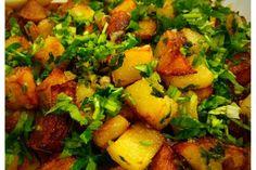 Batata Harra (Lebanese Potatoes with Cilantro, Garlic and Lemon Juice)