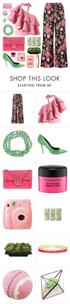 """#PolyPresents: Fancy Pants"" by megan-vanwinkle ❤ liked on Polyvore featuring Dolce&Gabbana, Chicwish, Roger Vivier, Chanel, MAC Cosmetics, Fujifilm, Lux-Art Silks, John Galliano, Effy Jewelry and Dr.Ci:Labo"