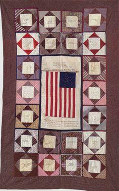Civil War Soldier's Quilt, 1865. Massachusetts.